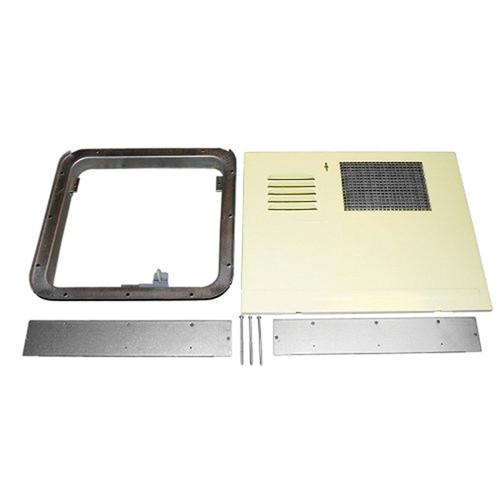 Water Heater Access Door; For Suburban 6 Gallon Water Heater; White; With Flange 520781/ Standard Mount Door Frame/ 2 Filler Flanges