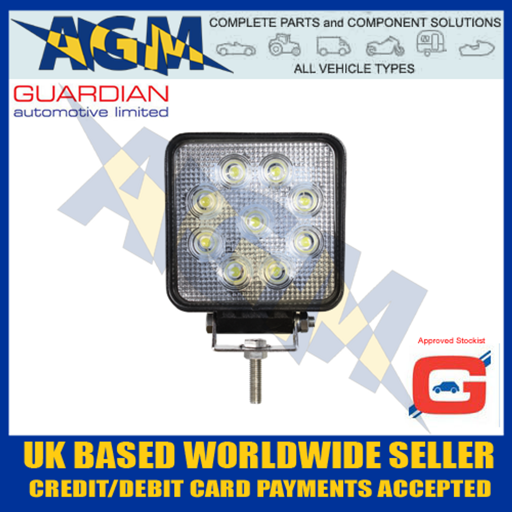 Guardian WL50E 9 LED 9-32 volt, Search Work Light Lamp 18W, 1000 Lumens