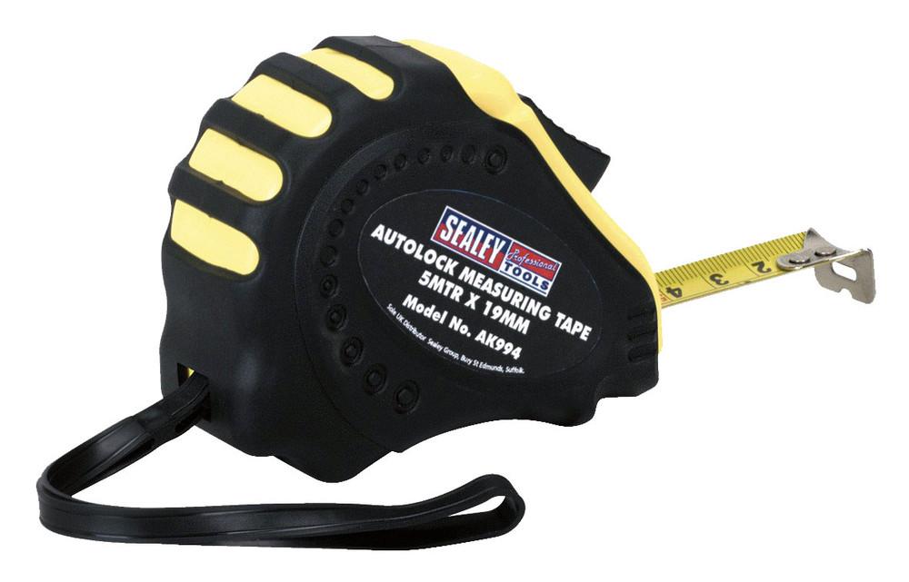 Sealey AK994 Autolock Measuring Tape 5mtr