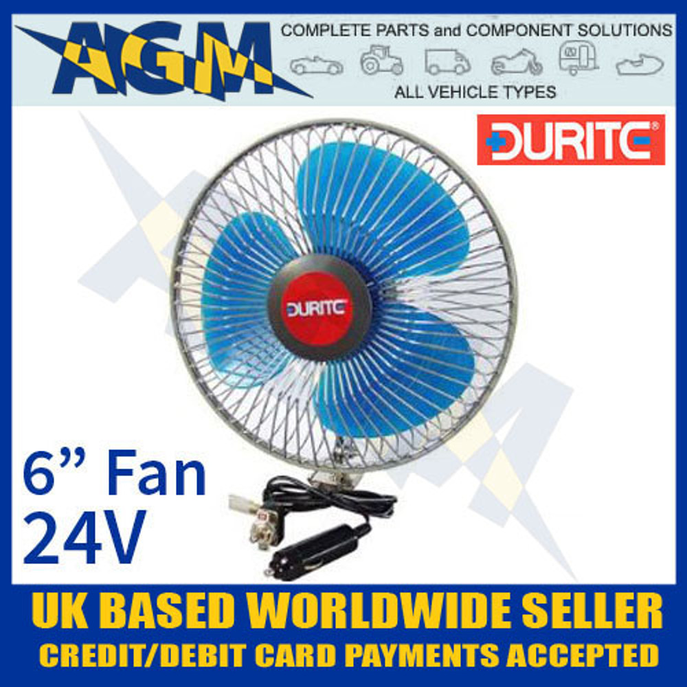 Durite 0-210-44, In Vehicle 24V 6 Inch Oscillating Fan