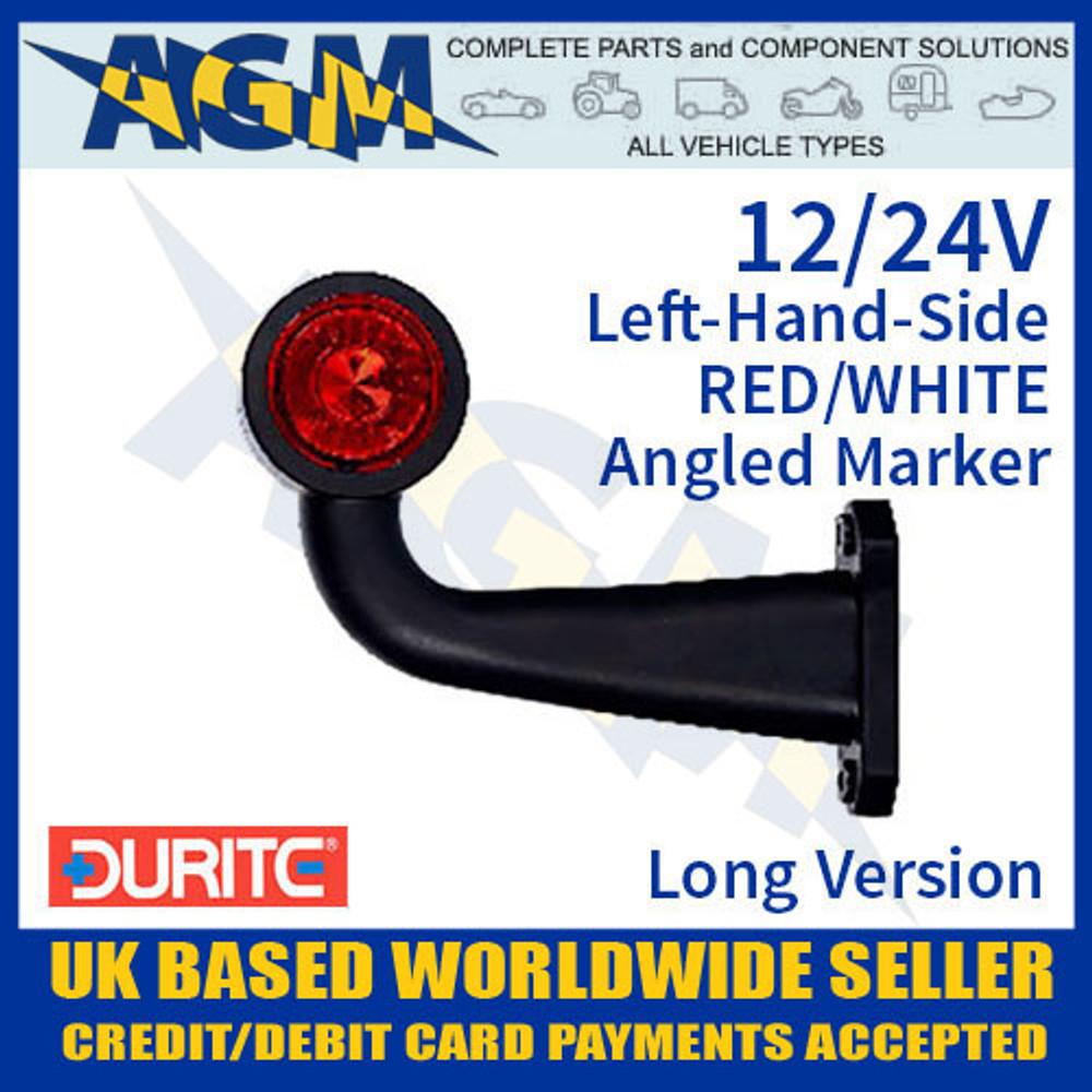 durite, 0-172-46, 017246, lh, red, white, angled, led, outline, marker, lamp, 12v, 24v