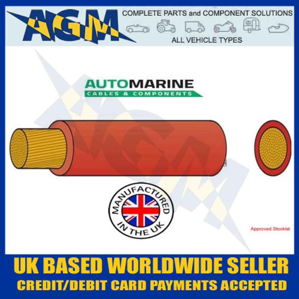 PVC25, Automarine, 170 amp cable, 10 metres, PVC, Tough, Red