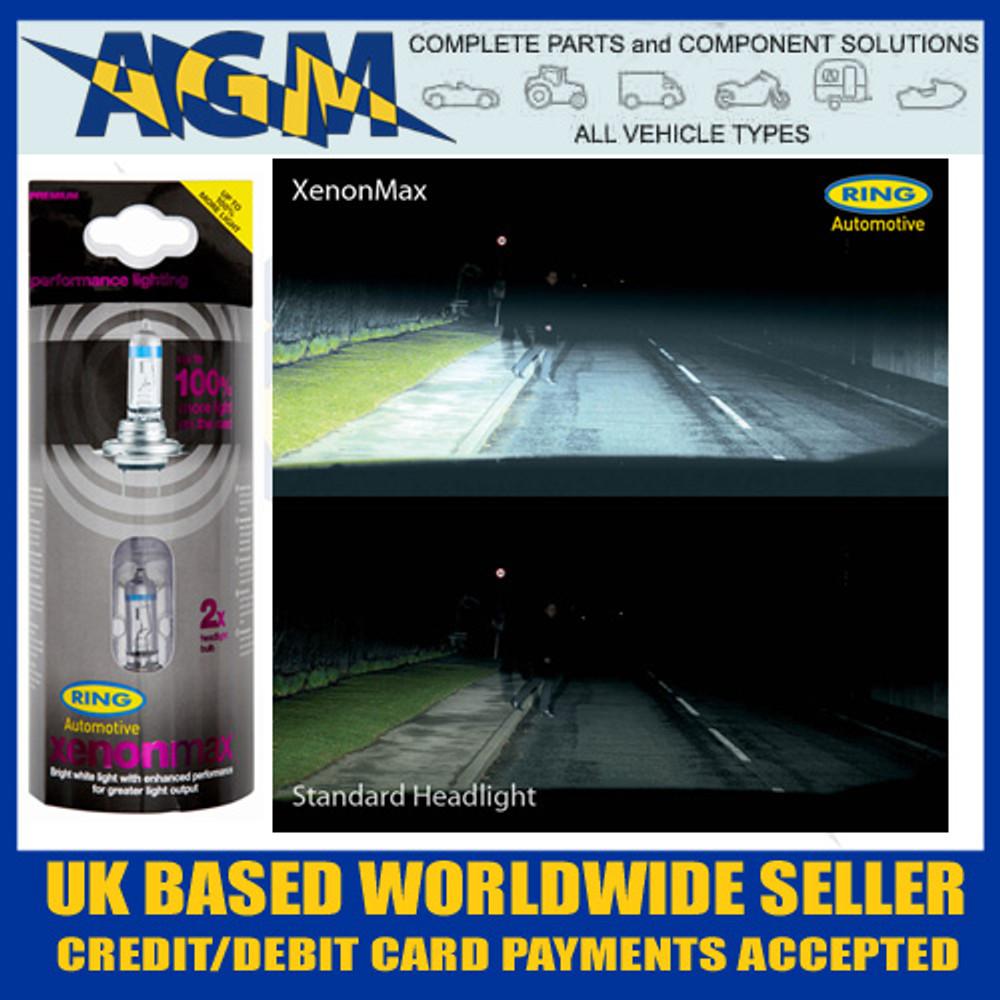 Ring RW1048 Xenon Max Twin Pack 100% H1 Headlight Upgrade Bulb