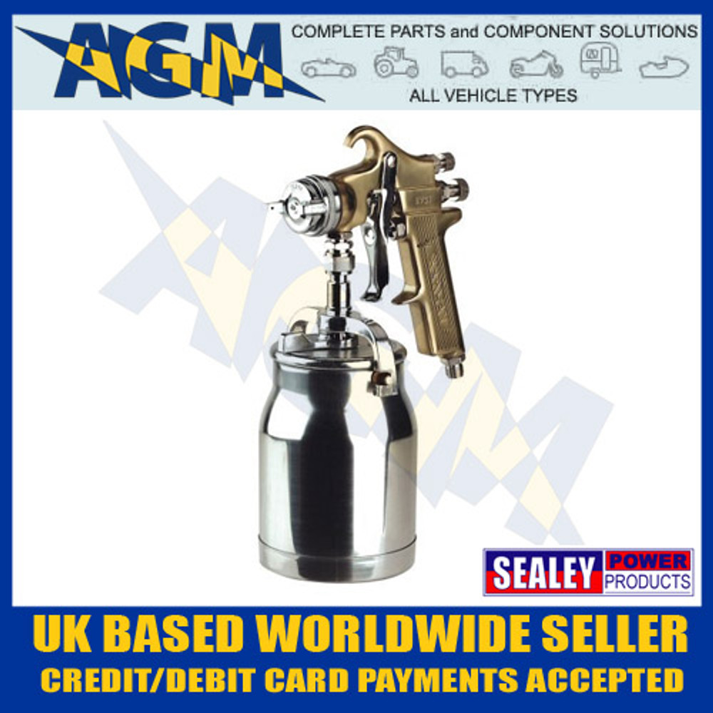 sealey, s701, spray, gun, gold, professional, suction, feed. 1.8mm, spraygun