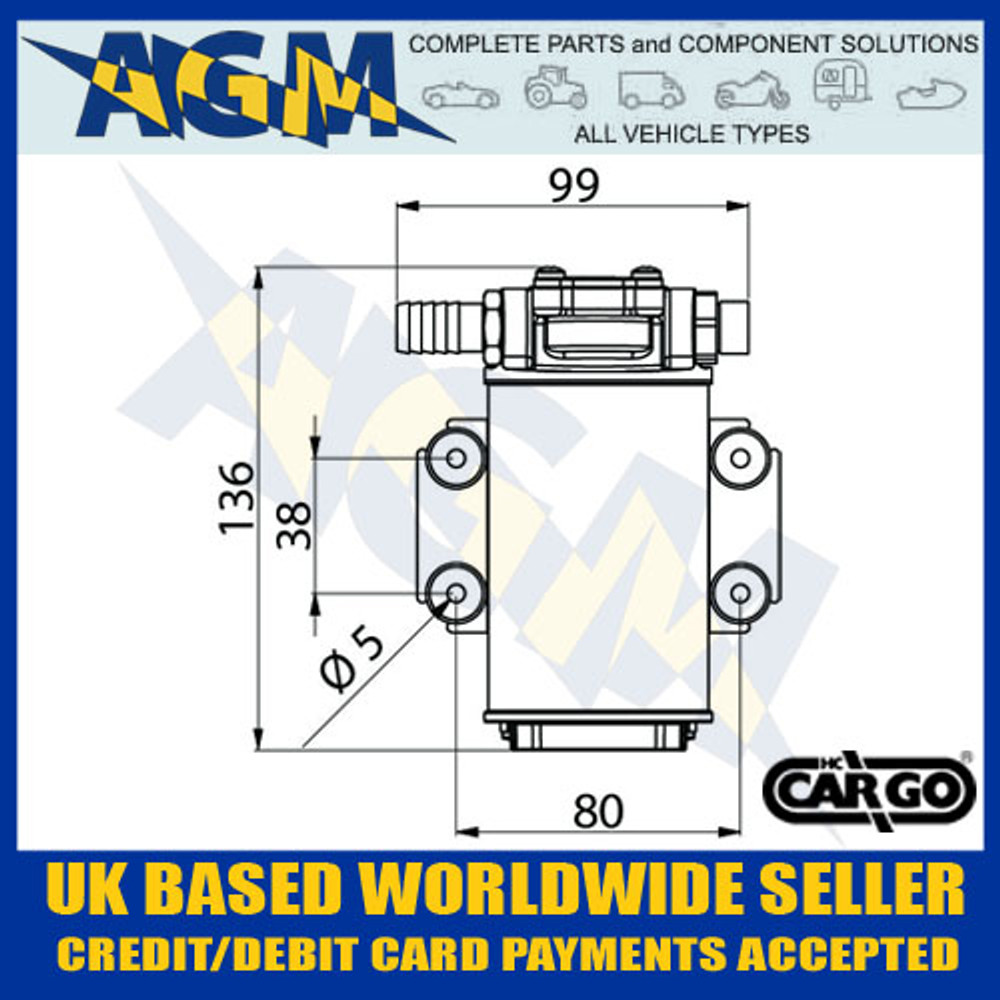 Cargo 070151, 12v Oil Transfer Pump