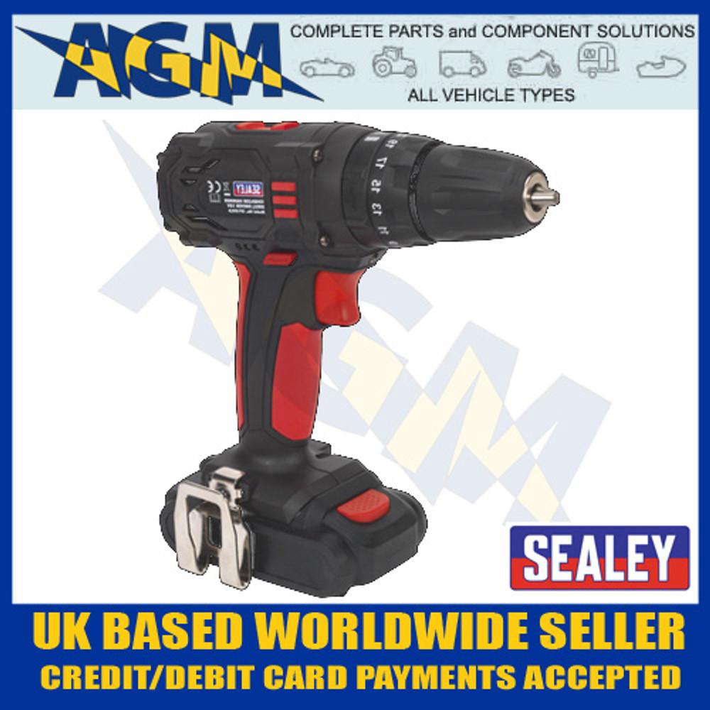 sealey, cp18vld, cordless, 18v, lithium, ion, hammer, drill