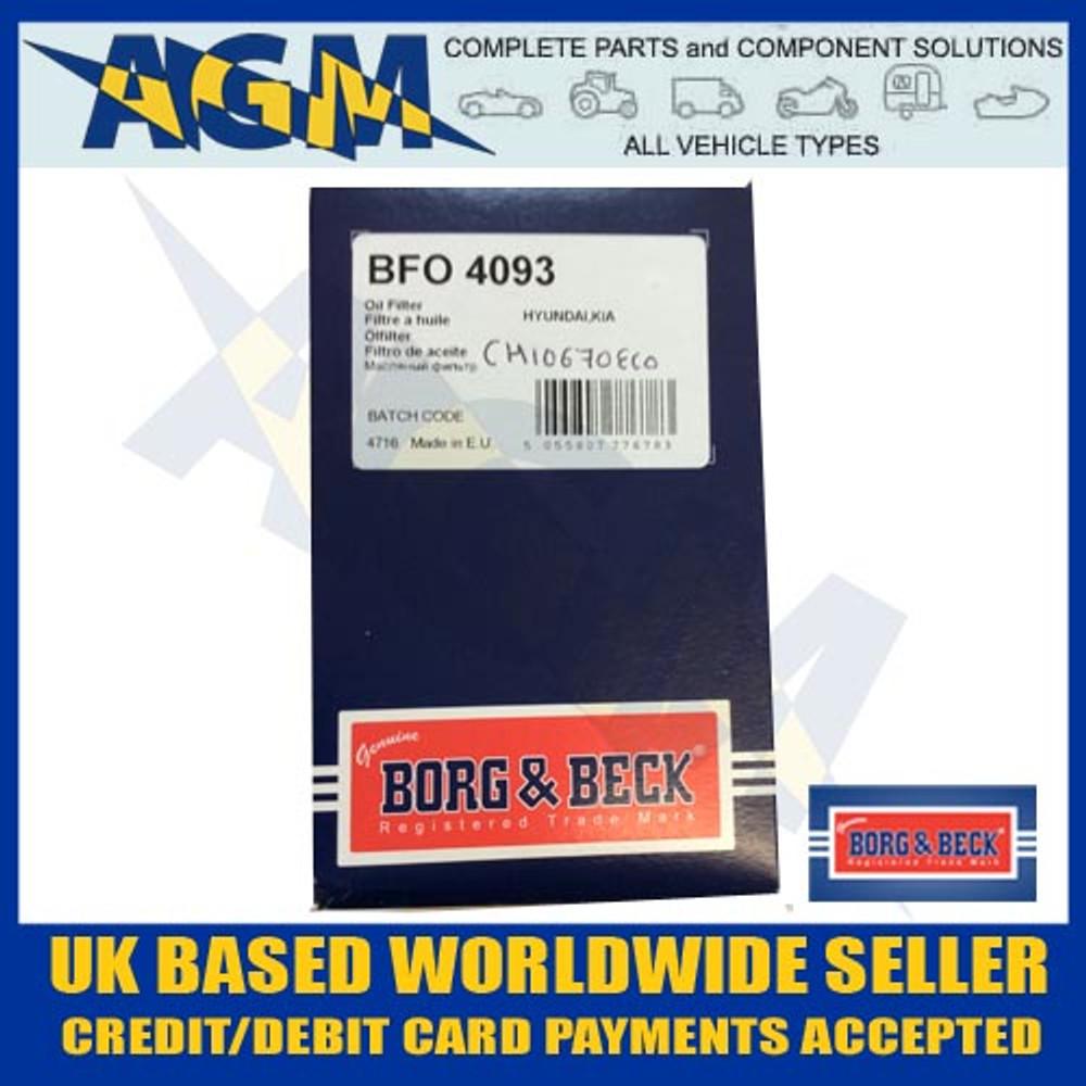 Borg And Beck BFO4093 Oil FIlter I20, I40, IX20, Rio, Soul, Venga