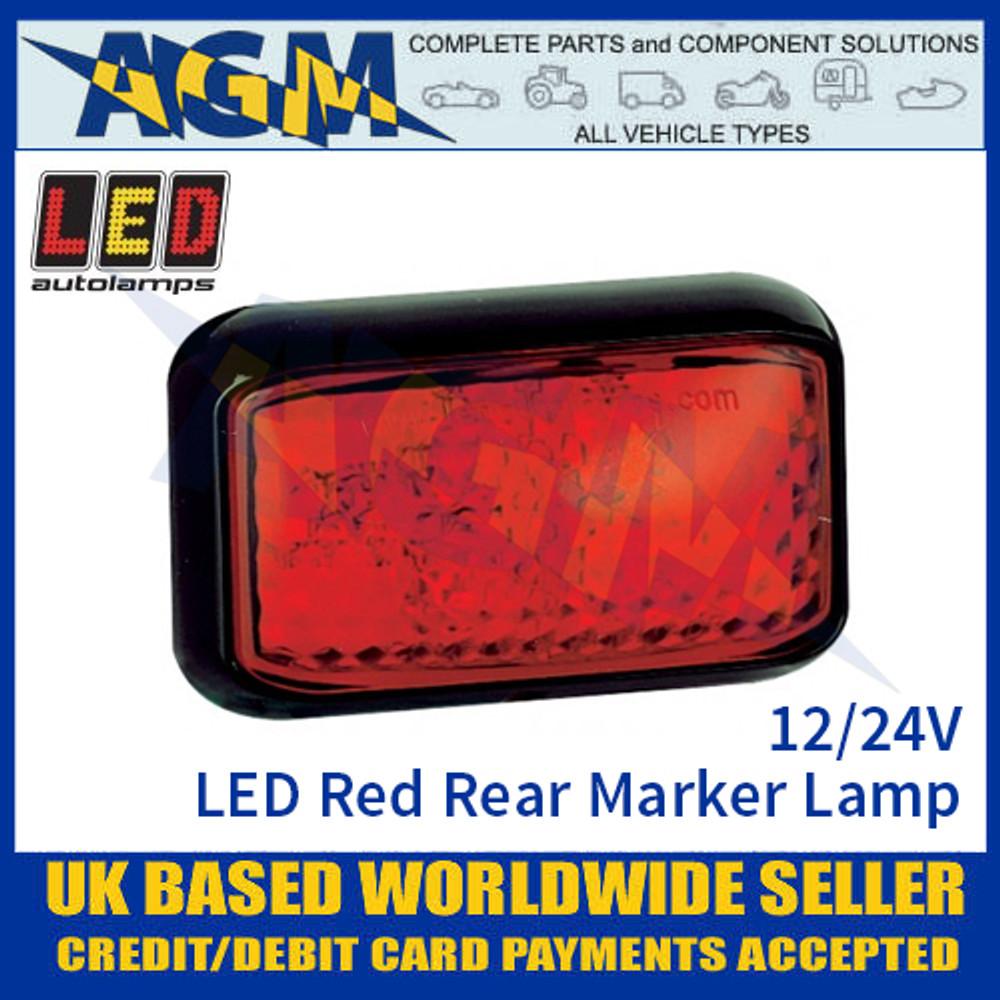 LED Autolamps 58RME LED Red Rear Marker Lamp Light 12/24v