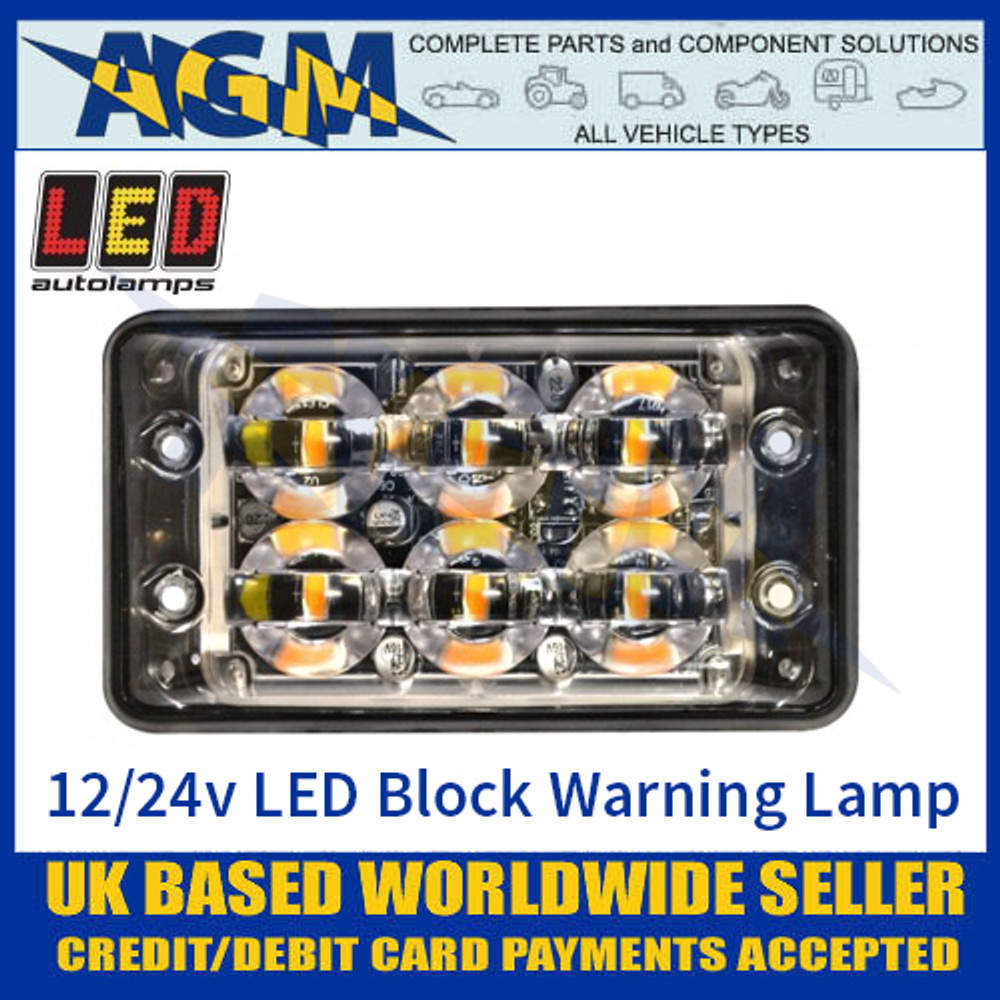 LED Autolamps SSLED62DVA Super-Slim 6 Block LED Warning Lamp