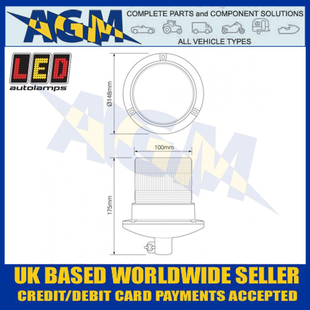 LED Autolamps EQPR10GBM-DM Dimensions