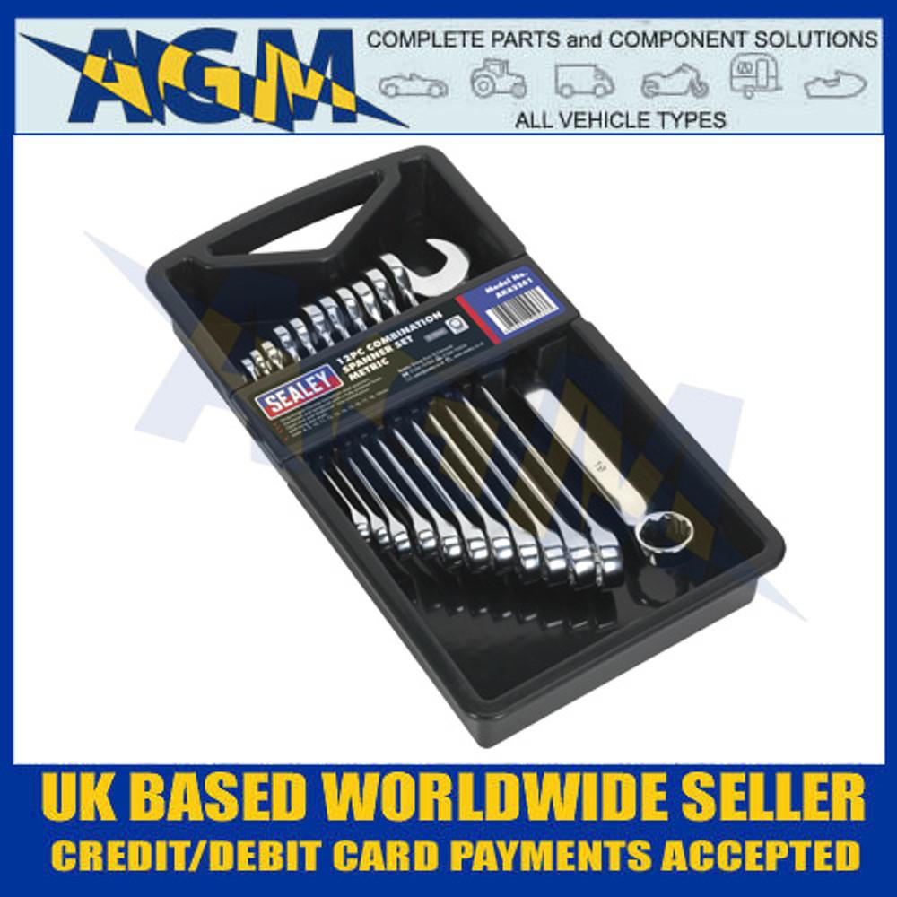 Sealey AK63261 Combination Spanner Set  'Metric' - Storage Tray