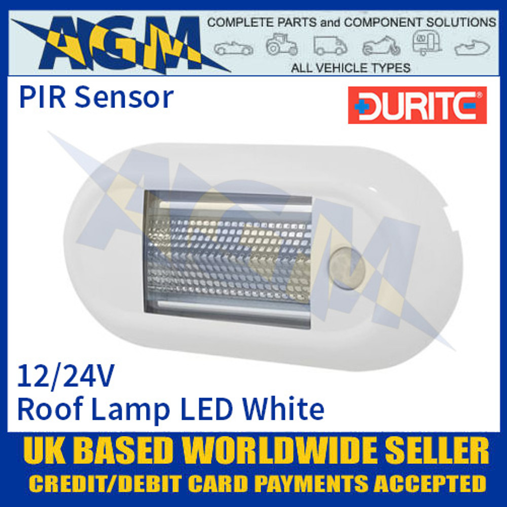 Durite 0-668-69 Roof Lamp PIR SMD LED White, 12/24V, IP67, ECE R10
