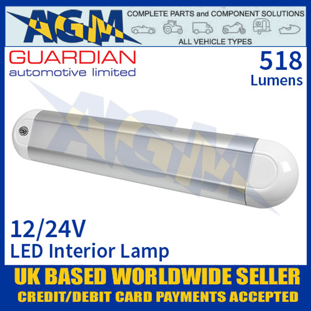 Guardian Automotive INT56 LED Interior Light with On/Off Switch 12/24V