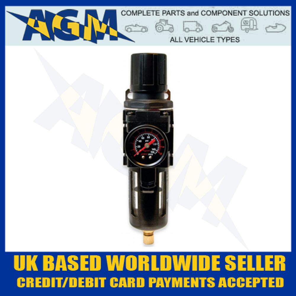 """Jamec 06.2426, 1/4"""" BSP Air Pressure Filter Regulator And Gauge"""