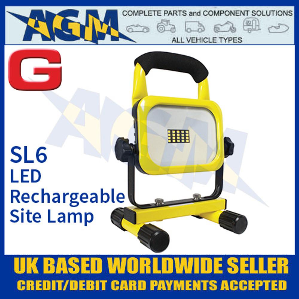 Guardian Automotive SL6 LED Rechargeable Site Work Lamp, 800 Lumens