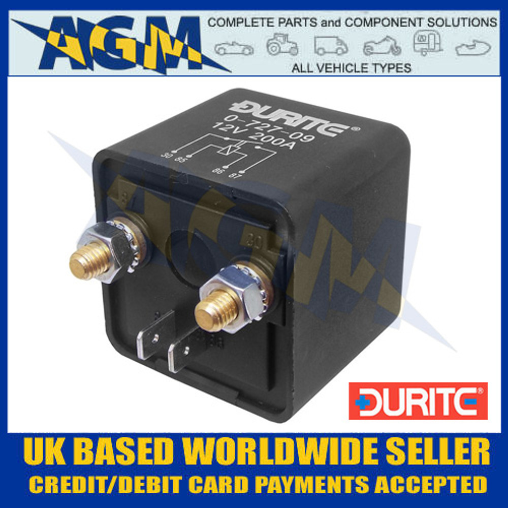 Durite 0-727-09 12V 200A Extra Heavy Duty Make and Break Relay