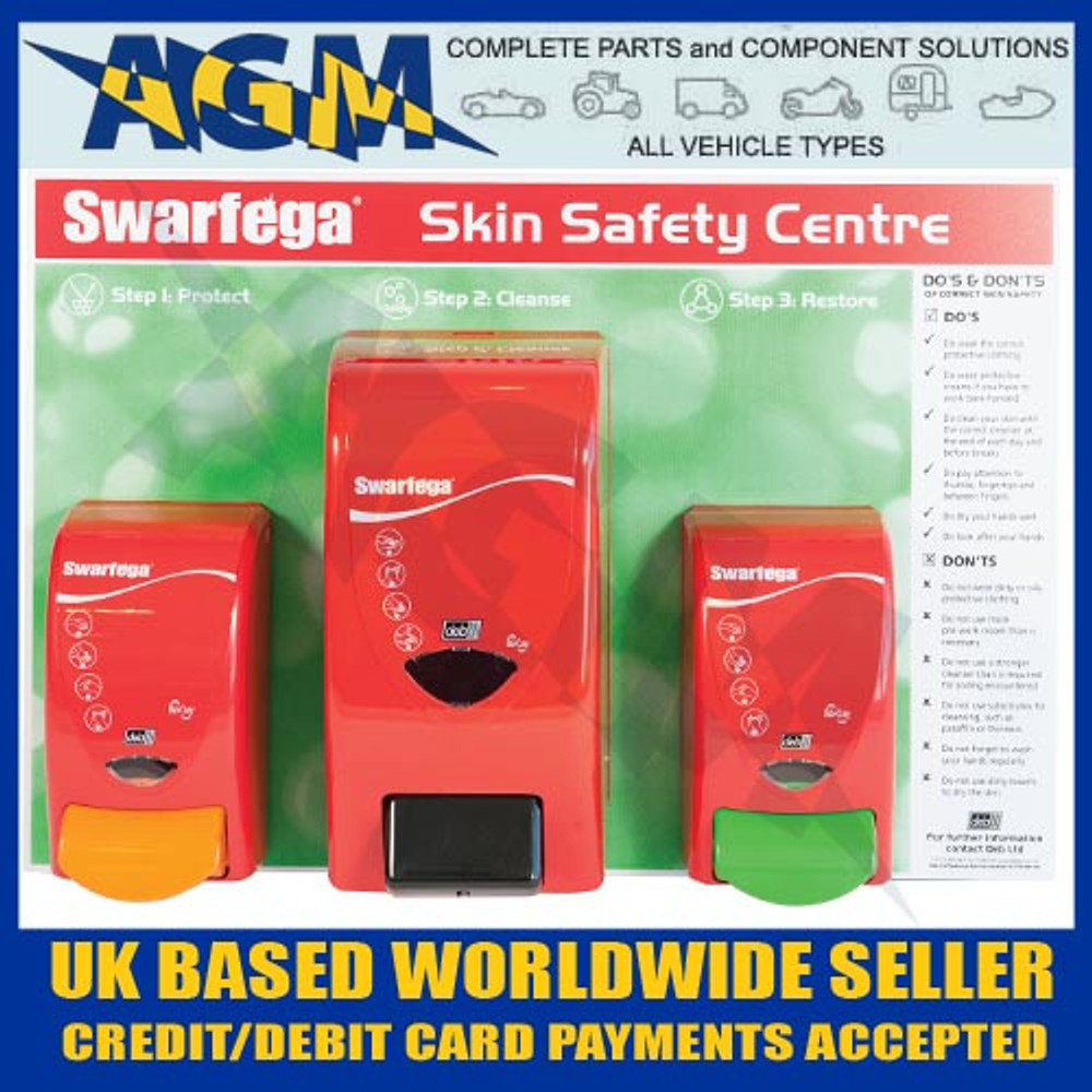 Deb Swarfega SSC1EACH Workshop/Garage Skin Safety Board with 3 Dispensers