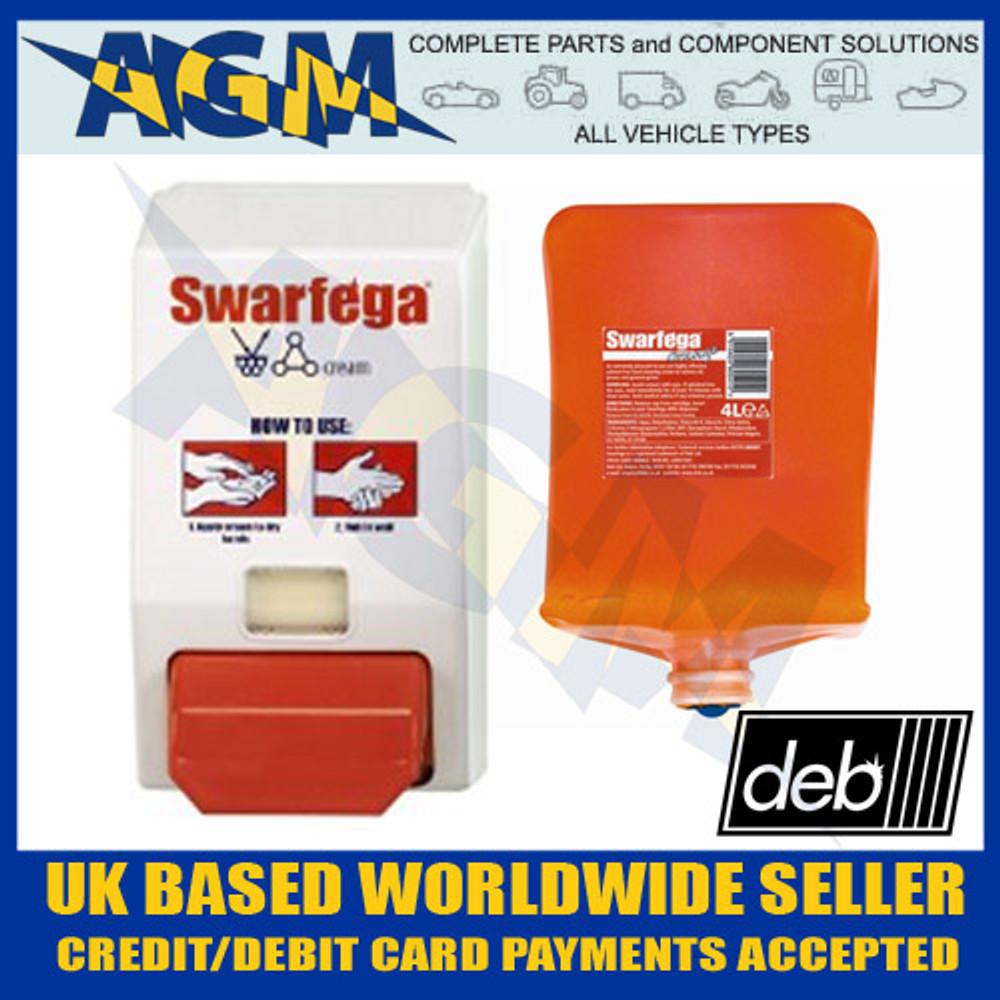 SWARFEGA Starter Pack - 4LTR DEB Orange Hand Cleaner & Wall Dispenser