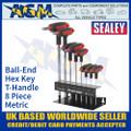 Sealey AK7195 Ball-End Hex Key Set