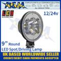 """LED Autolamps 2296SBM LED 9"""" Round Driving Spot Lamp/Light 12/24v"""