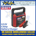 Sealey STC60 Battery Charger, 6/12 Volt 6 Amp 230 Volt Battery Charger