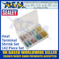 Sealey AB037HT Adhesive Lined Heat Shrink Terminal Assortment Set 142pc