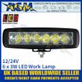 LED Autolamps 16018BW Rectangular 6 x 3W LED Work Lamp, Front
