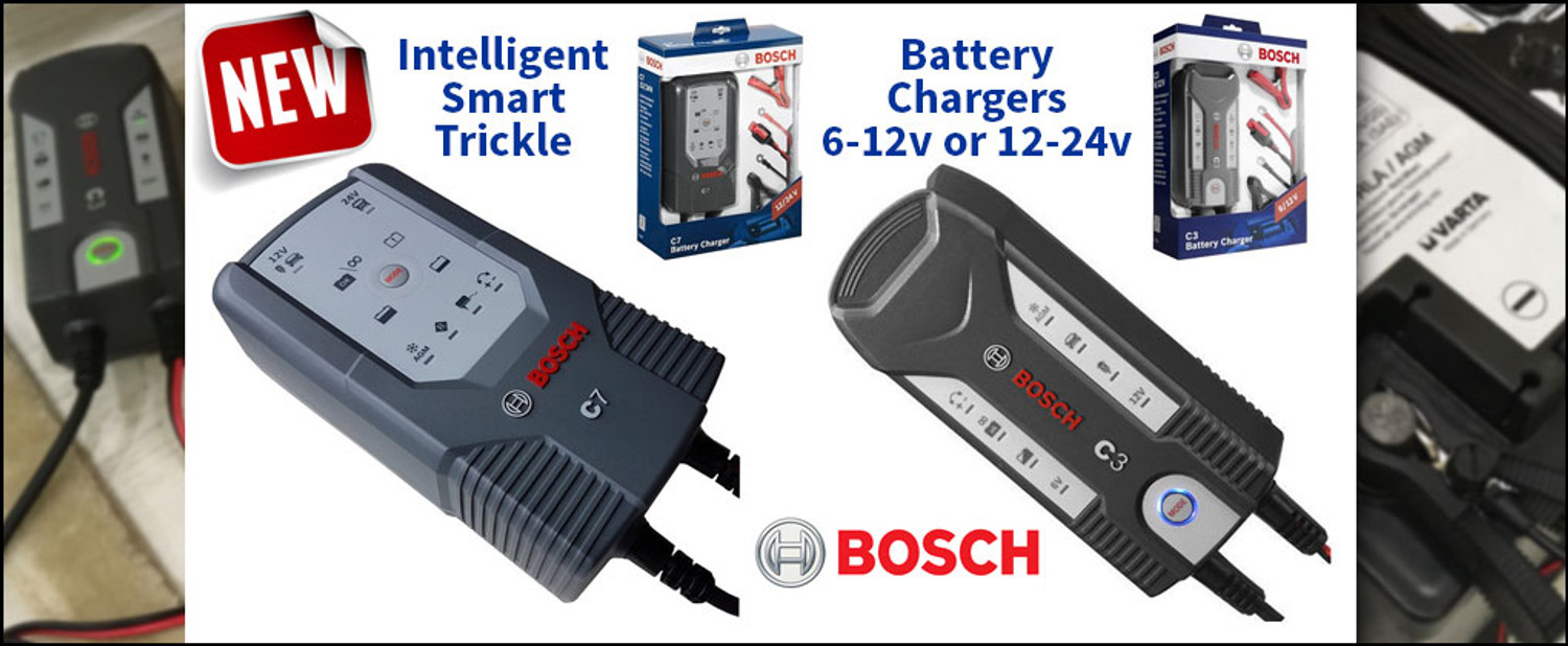 Just Released For Sale - Bosch Intelligent Smart Trickle Battery Chargers in 6-12v or 12-24v