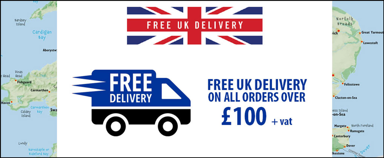 Free UK Delivery on orders over £100 + vat