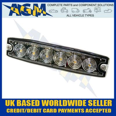 SL-10451 LED Amber Strobe Hazard Warning Lamp Light Ultra Thin
