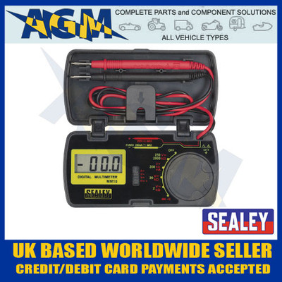 Sealey MM18 Pocket Sized Digital Multimeter/Test Multi Meter in Storage Case