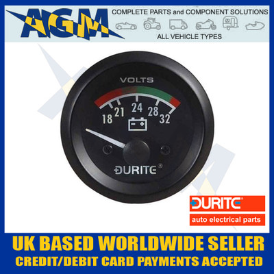 durite, 052372, 0-523-72, 24v, volt, meter, battery, condition, gauge, illumination