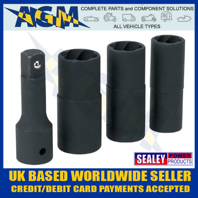 sealey, sx271. impact, locking, damaged, wheel, nut, removal, socket