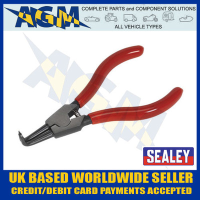 Sealey AK84531 Circlip Pliers External Bent Angled Nose Type 140mm