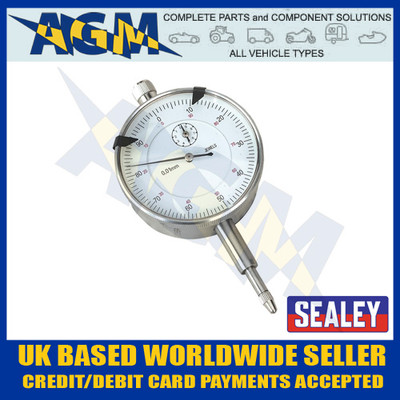 Sealey Dial Gauge Indicator 10mm Travel/Run Out Metric AK961M Brake Disc Drum