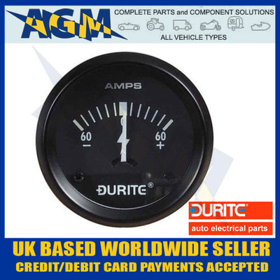 durite, 0-523-51, 052351, marine, illuminated, 12v, dash, ammeter