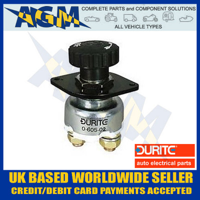 durite, 0-605-02, 060502, 100 amp, battery, isolator, switch
