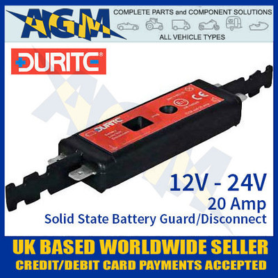 durite 0-852-02, 085202, 12v, 24v, solid, state, battery, guard, disconnect