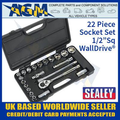 sealey, s0913, socket, set, 1/2, Sq, drive, walldrive, metric