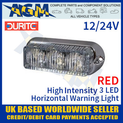 durite, 0-442-05, 044205, red, high, intensity, led, horizontal, warning, light, 12v, 24v