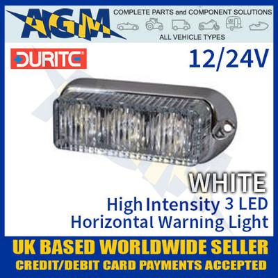 durite, 0-442-07, 044207, white, high, intensity, led, horizontal, warning, light, 12v, 24v