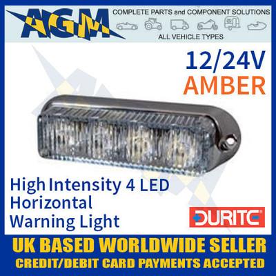 0-442-20, 044220, durite, amber, high, intensity, led, horizontal, warning, light, 12v, 24v