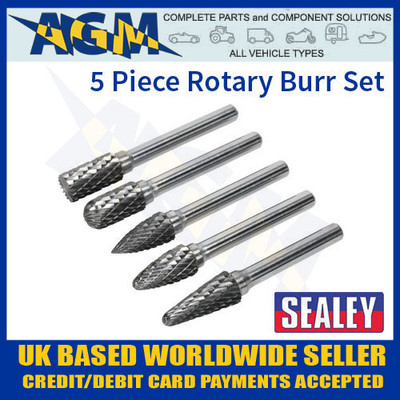 SDBK5 Sealey 5 Piece Rotary Burr Set