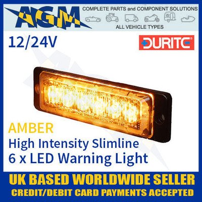 durite, 0-441-00, 044100, high, intensity, led, amber, warning, light, slimline