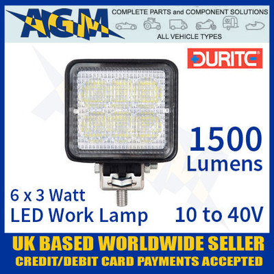 durite, 0-420-78, 042078, led, flood, work, lamp, light, 10v, 40v