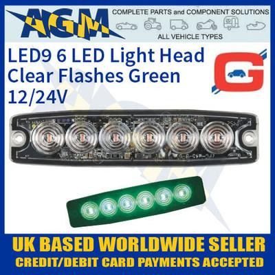 led9g, guardian, led, green, strobe, hazard, warning, lamp, light, thin