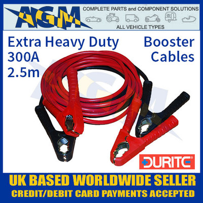 Durite 0-204-20 300A 2.5m Extra HD Booster Cables