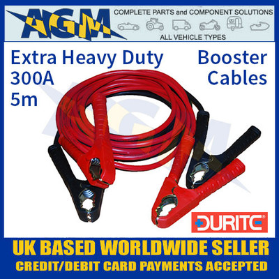 Durite 0-205-20 Set of Two Slave Leads 300A 5m Extra HD Booster Cables