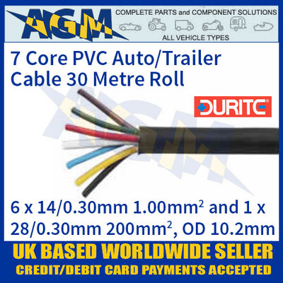 Durite 0-997-00 7 Core PVC Auto/Trailer Cable