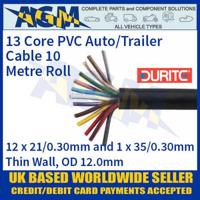Durite 0-999-13 13 Core PVC Auto/Trailer Cable